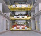 Shuttle automated parking solution in operation with three cars
