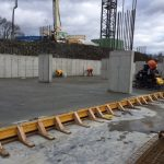 Construction of automated parking garage at Cliffside Park, NJ Four