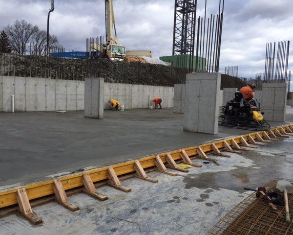 Construction of automated parking garage at Cliffside Park, NJ Four