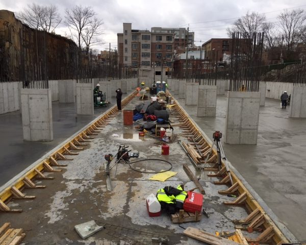 Construction of automated parking gargae at Cliffside Park, NJ One